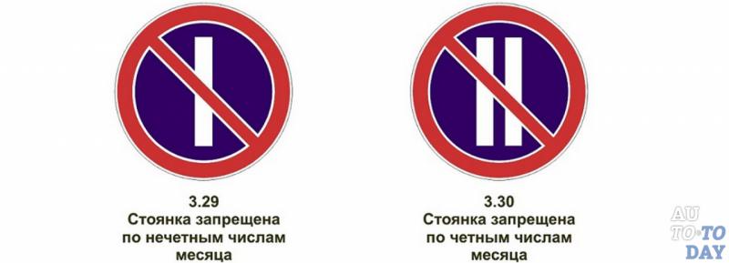 Знак парковка запрещена по четным дням