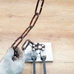 Самодельный ручной станок для гибки цепных звеньев