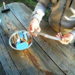 Как сделать прочную и анатомическую рукоять для ножа за 10 минту