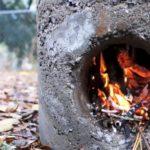 Ракетная печь из бетона — за ними не заржавеет