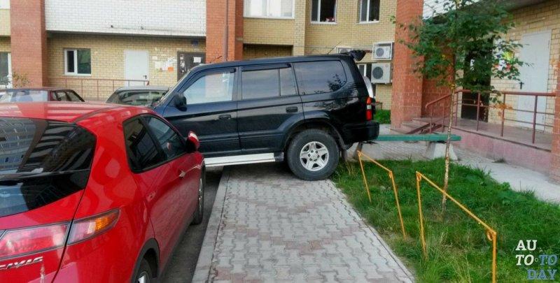 Парковка на полукруглой разметке