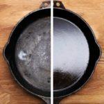 Чугунная сковорода: очистка от нагара и уход