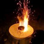 Как из ведра и гипса сделать мини плавильню для плавки алюминия