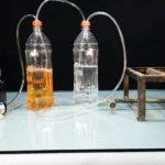 Простая установка для получения газа из бензина для горения конфорки