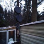 Биквадратная 4G антенна с отражателем из формы для кекса + тест