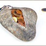 «Кошелек» из булыжника, настольная сувенирная монетница своими руками
