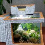 Интересный аквариум из пенопласта и бетона