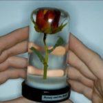 Именная роза в эпоксидной смоле