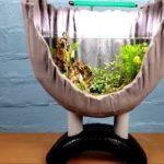 Необычный аквариум изготовленный с помощью автопокрышек и цементного раствора