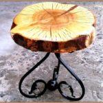 Кофейный столик из металла и вишни своими руками