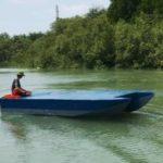 Лодка на электрической тяге