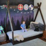 Детская  напольная кровать в стиле мультфильма «Как приручить дракона»