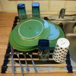 Складная решетка на мойку для сушки посуды