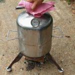 Маленькая печь из баллона для запекания кур и не только