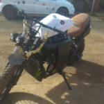 Мотоцикл с автомобильным двигателем