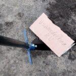 Лопата для прокладки кабеля, из водопроводной трубы