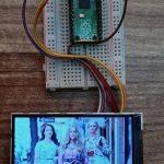 Фоторамка с растровым изображением с использованием Raspberry Pi Pico